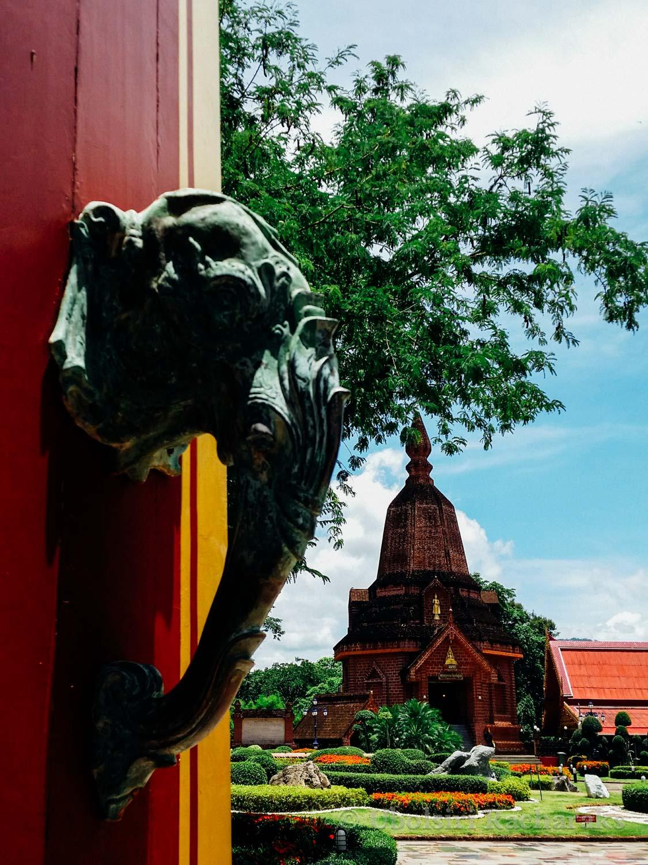 Detail of Elephant Door Handle at Wat Neramit Wipatsana