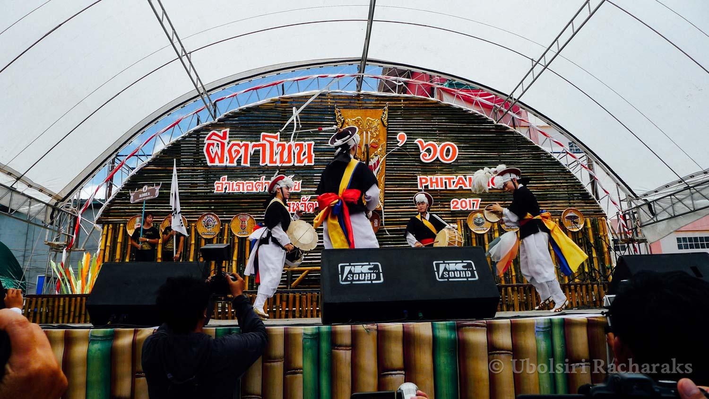 Korean Performers at Wat Phon Chai