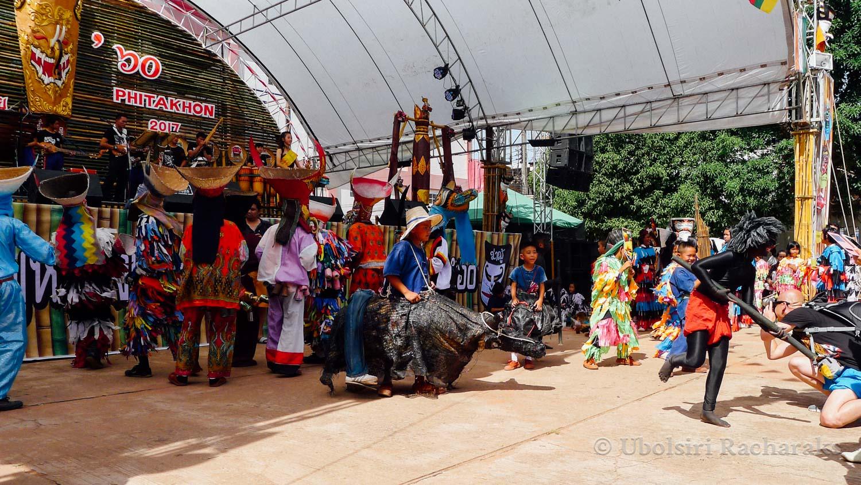 Students Playing around at Phi Tha Khon Festival