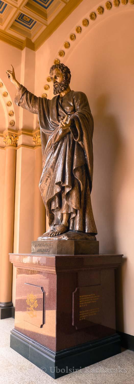 Statue of Saint Peter at Assumption Cathedral, Bangkok, Thailand
