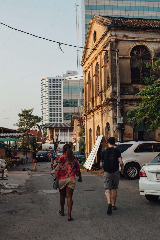 People exploring Old Customs House, Bangkok, Thailand