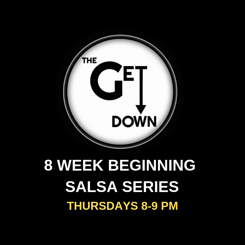 Beginning Salsa Series (Thursdays)  Thursdays 8-9pm $120/series $20/drop-in (this class is a progressive series and will not slow down for one-time students)   Pre-registration is required; space is limited to 10 couples. (No partner required to register.)  Info: A progressive Salsa program designed to teach beginners the technique behind social dancing. It will start at a basic level and progress to intermediate moves. Along with mastering the basic moves, students will learn about the music, history and culture that makes Salsa the vibrant street dance it is today.