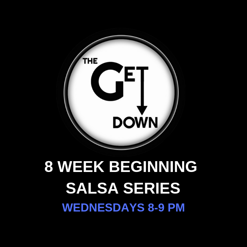 Beginning Salsa Series (Wednesdays)    Wednesdays 8-9pm $120/series $20/drop-in (this class is a progressive series and will not slow down for one-time students)   Pre-registration is required; space is limited to 4 couples. (No partner required to register.)  Info: A progressive Salsa program designed to teach beginners the technique behind social dancing. It will start at a basic level and progress to intermediate moves. Along with mastering the basic moves, students will learn about the music, history and culture that makes Salsa the vibrant street dance it is today.