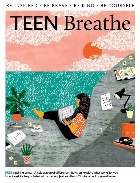 Magazine Cover Art - Teen Breathe Magazine