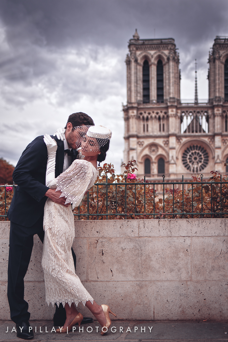 Paris wedding photography Notre Dame