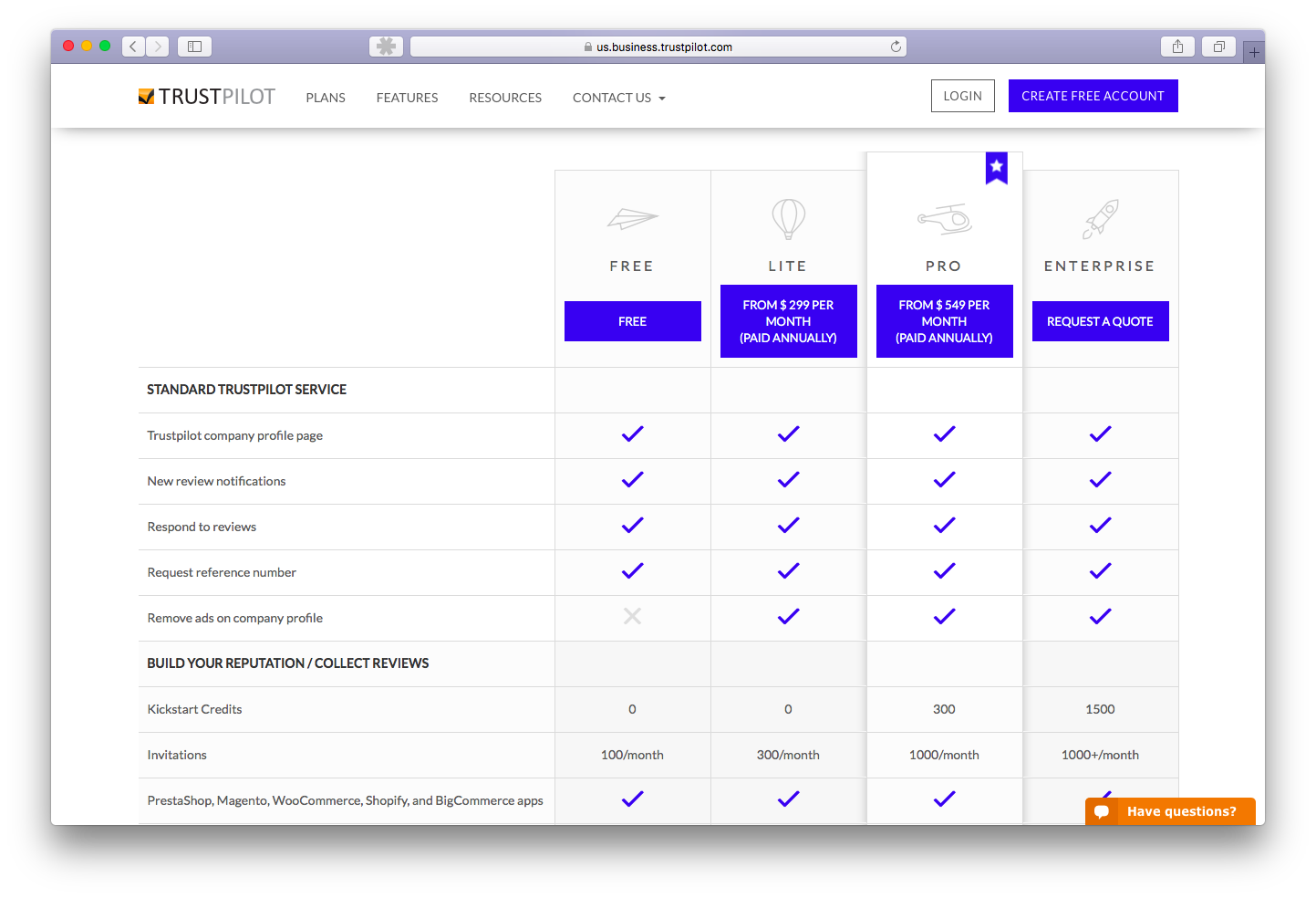 Our beautiful and useful new pricing page, designed by Fei Huang