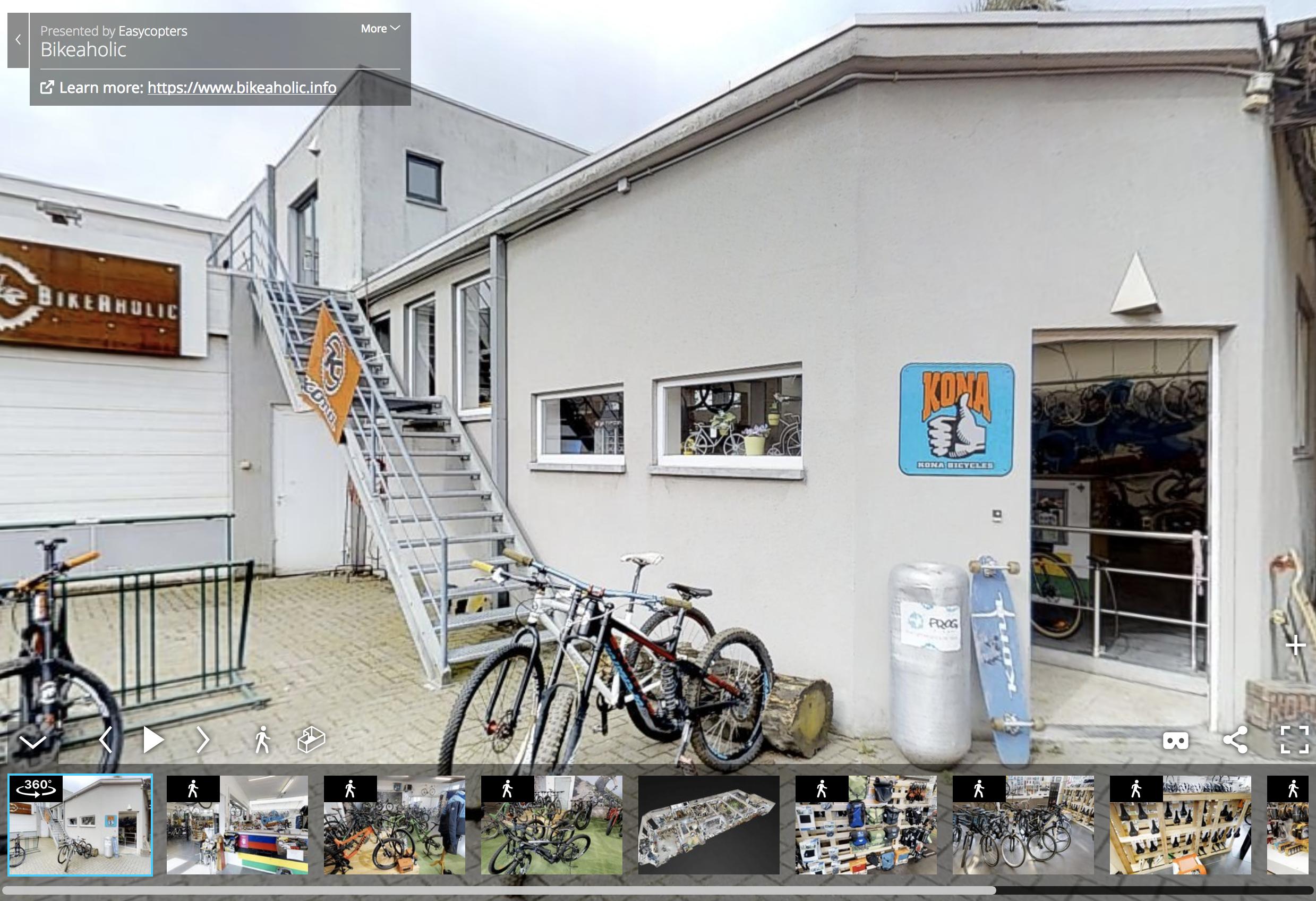virtual tour door onze BikeAholic winkel