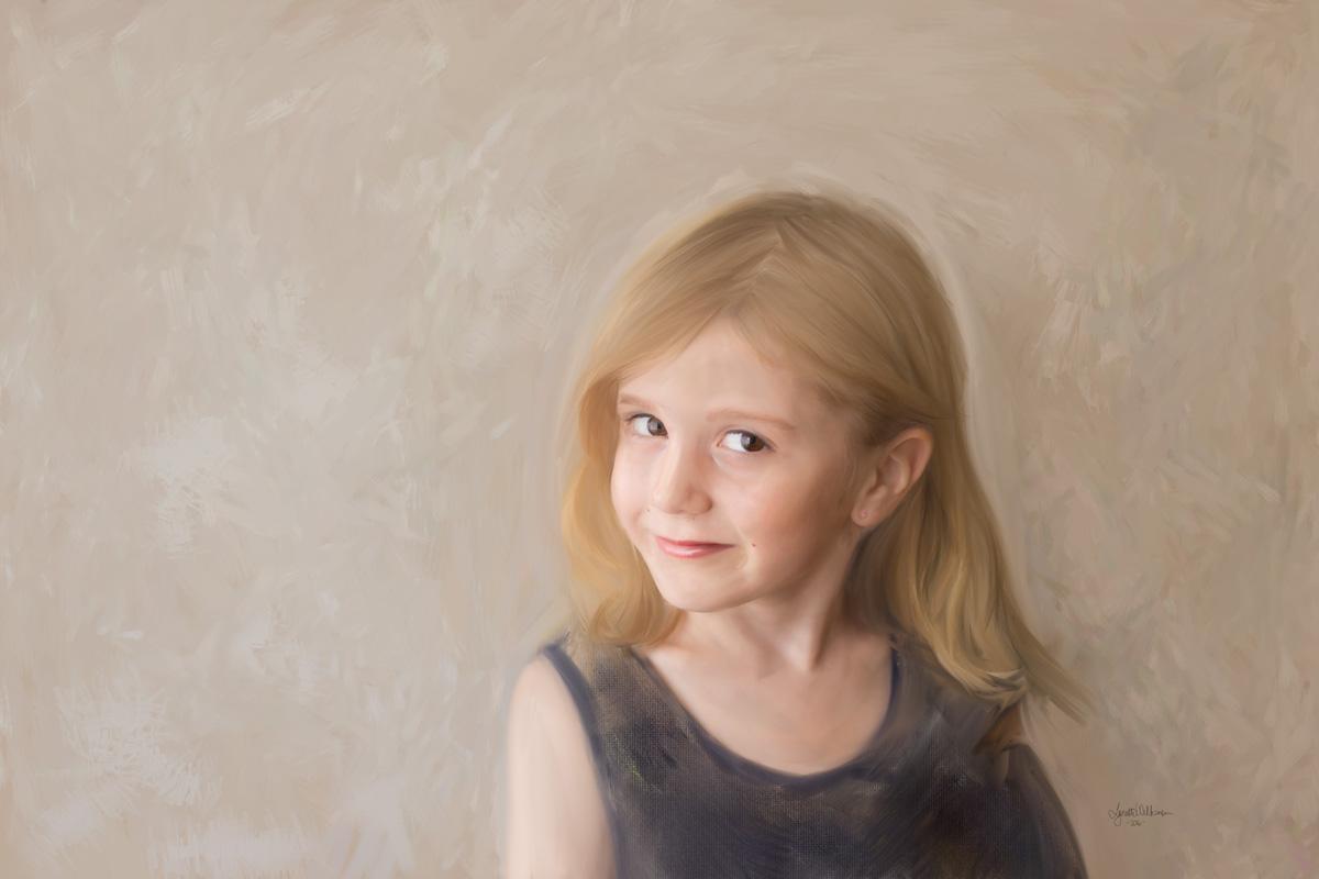 Painted Portrait by Lynette Wilkinson