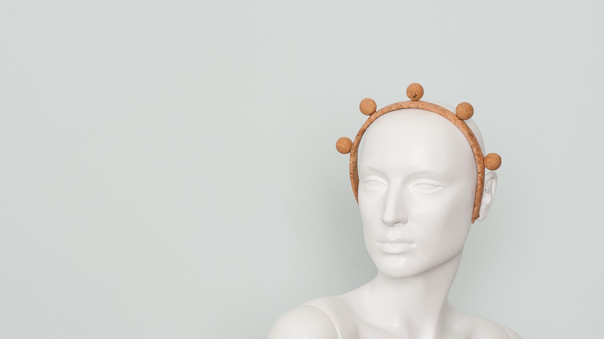 Cork stud hair band