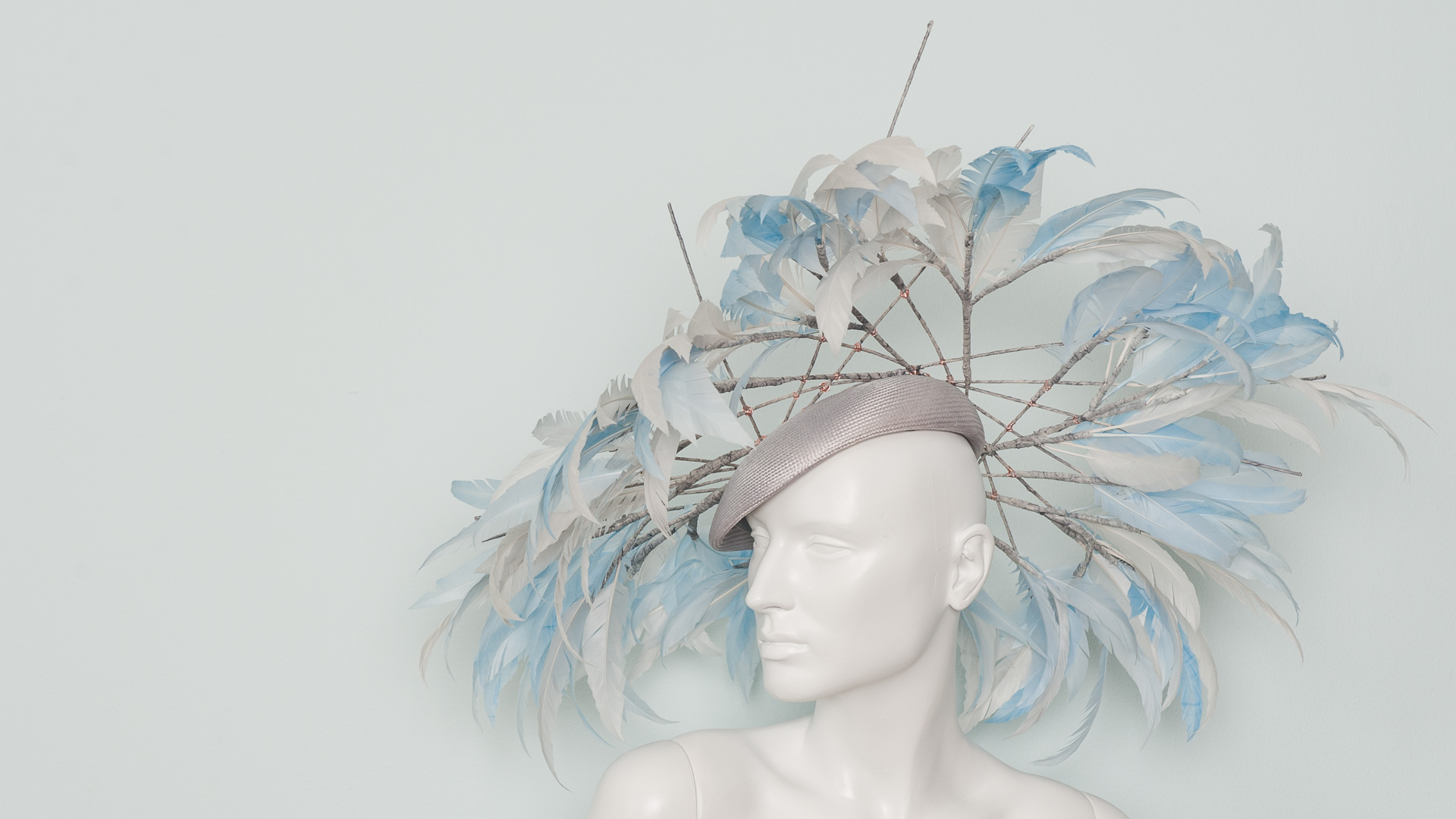 Feather bamboo hat