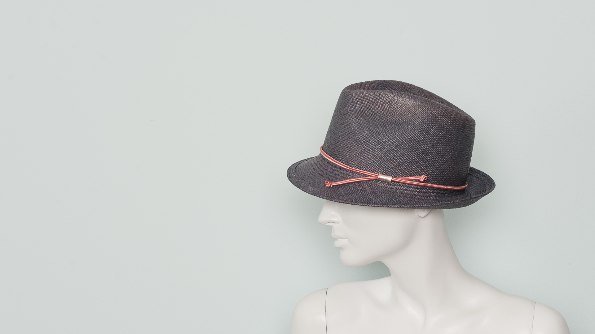 Panama trilby with braid band