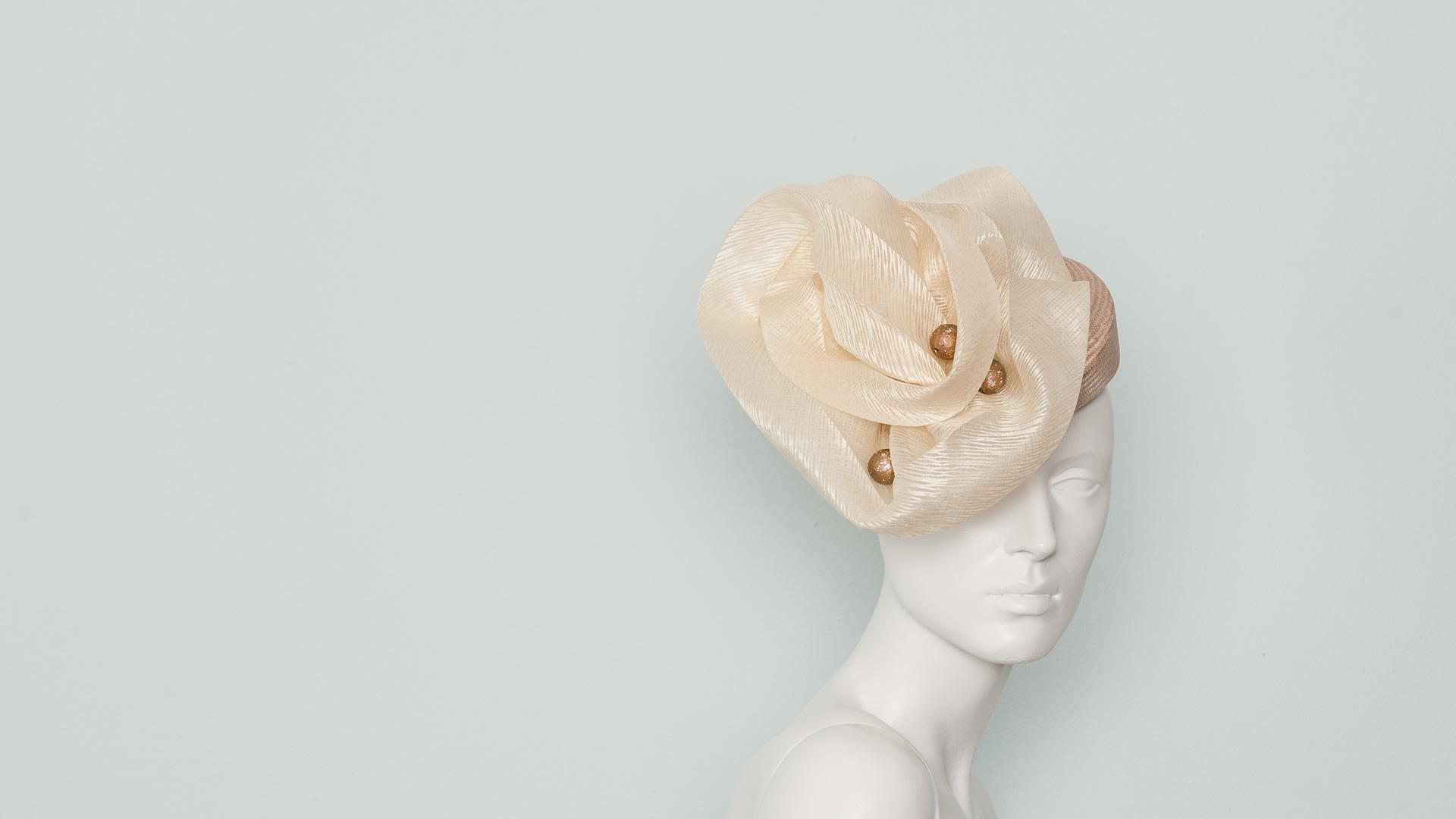 Silk organza flower hat