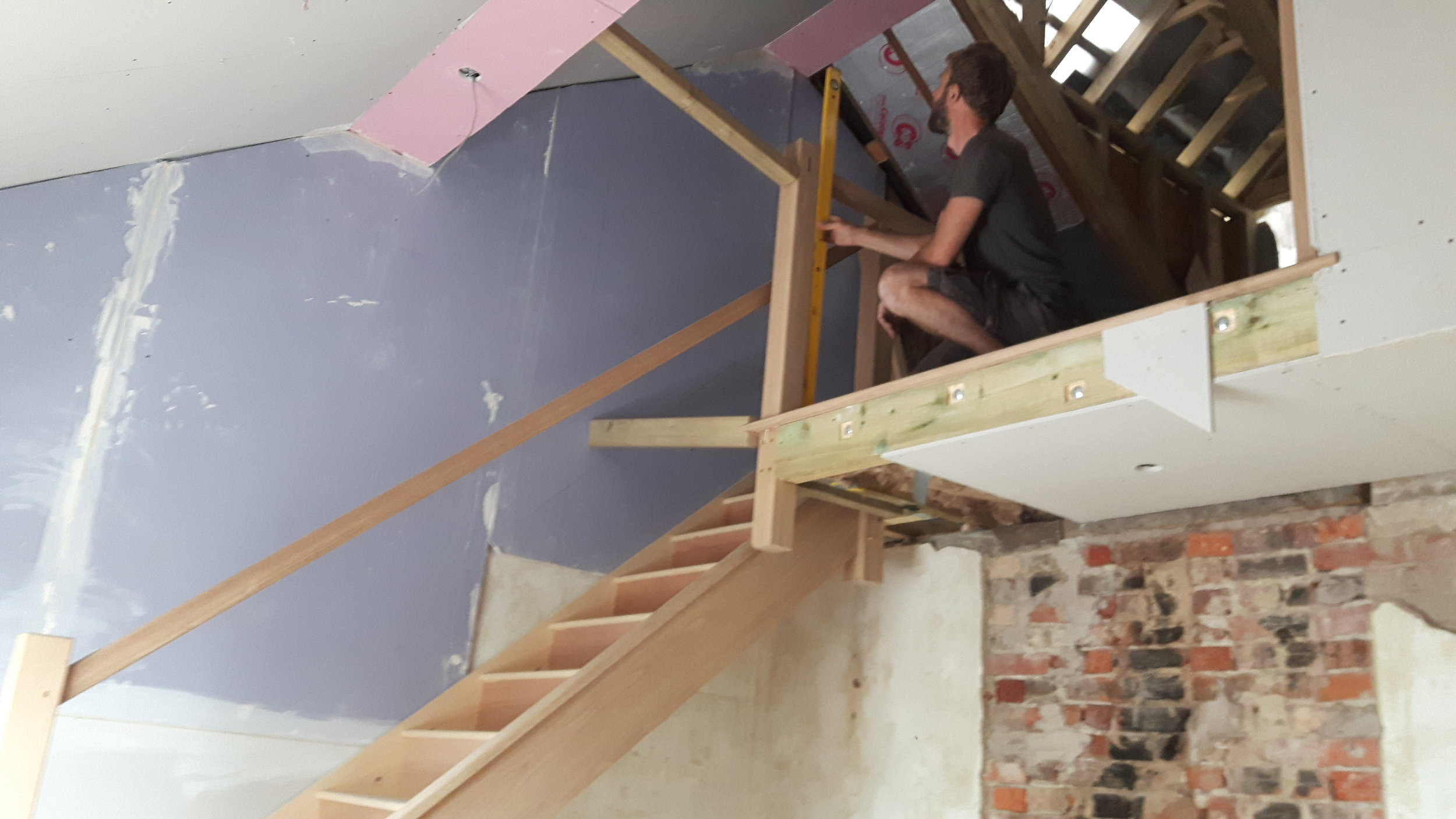 Space insulated and plasterboarded