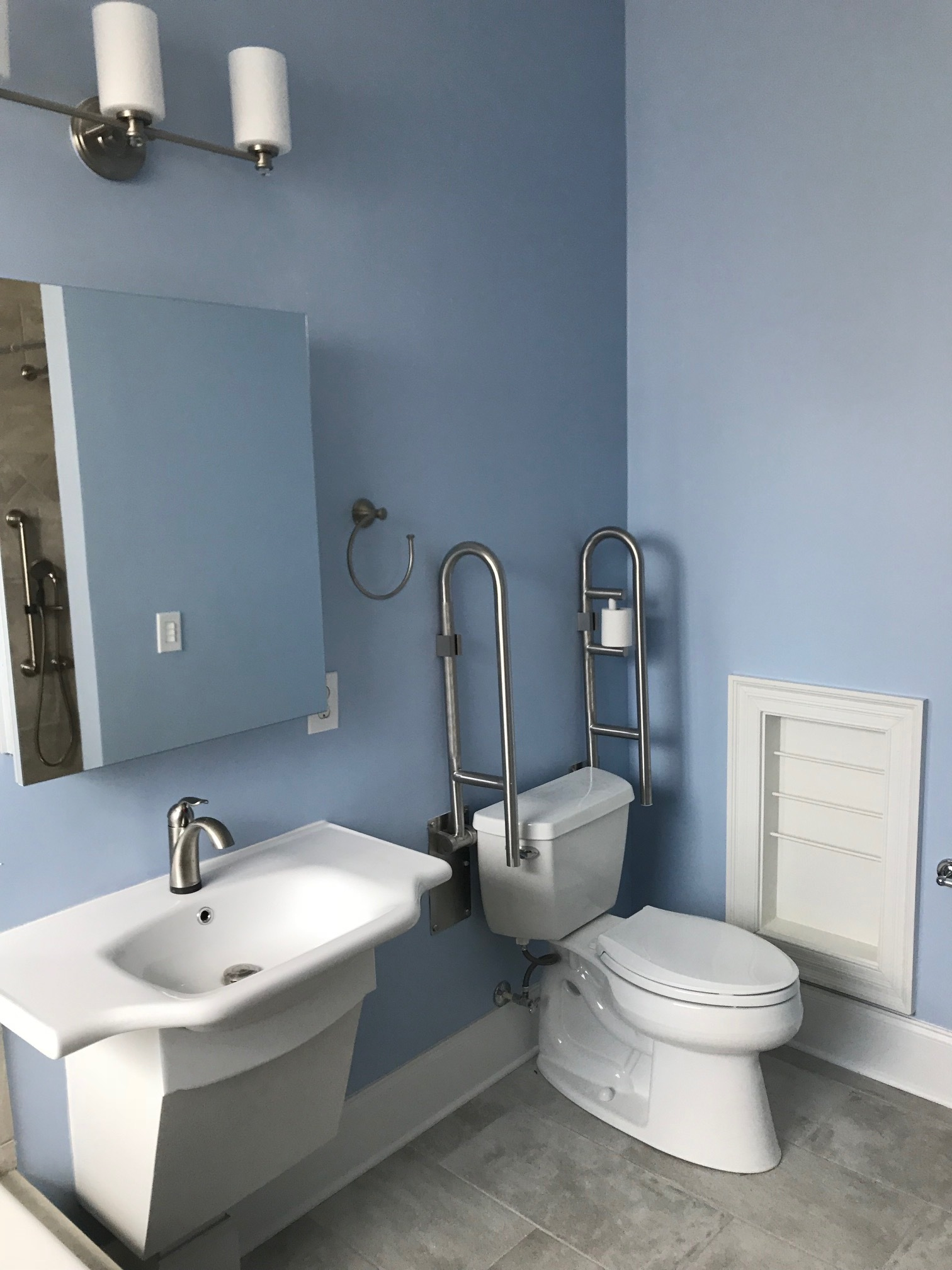 Handicap Sink and toilet area