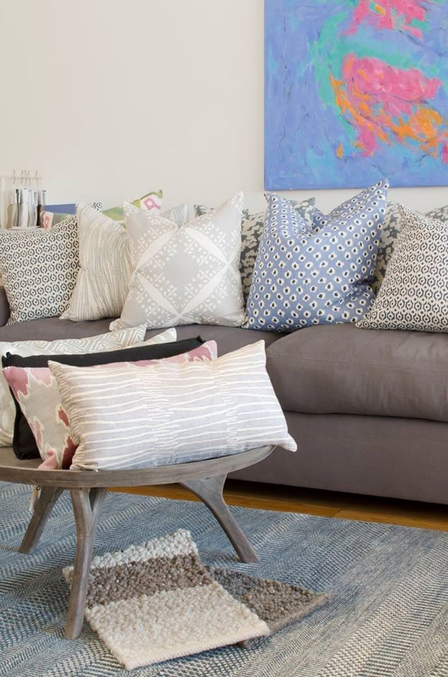 """Sit back and relax with us. Our custom pillows come in three sizes: 12x22"""", 20"""", and 22""""."""