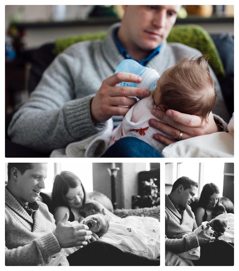 Denver lifestyle newborn photography