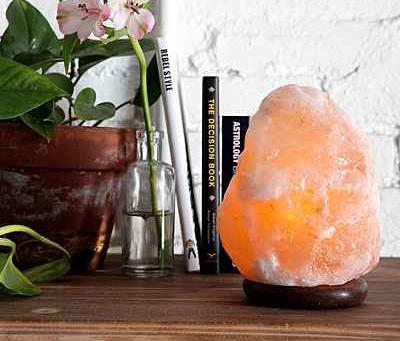 Himalayan Salt Lamp at  Urban Outfitters adds an interesting texture and illuminates dark spots