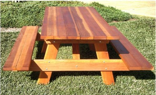 Maybe it's my Northern California childhood speaking, but this picnic table from  Best Redwood  gives off a classic, relaxed vibe.