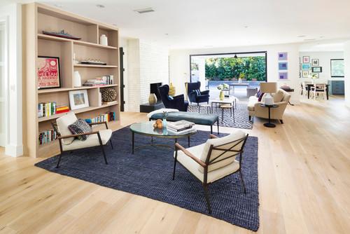 Transitional Living Room  by  Los Angeles Interior Designers & Decorators   Von Fitz Design