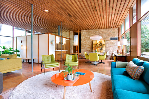 Midcentury Family Room  by  Austin Furniture & Accessories   Nest Modern