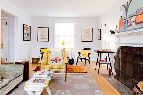 Eclectic Family Room  by  New York Photographers   Rikki Snyder