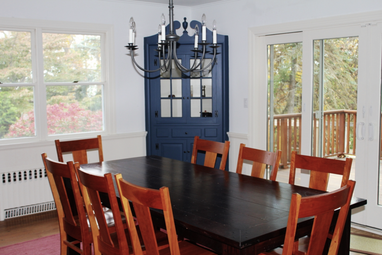 An OK location for the dining room, but we'd rather eat outside during the summer