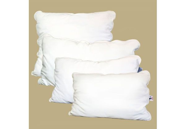 Alpaca filled bed pillows are supportive and resistant to mold and mites. via  satarahome.com