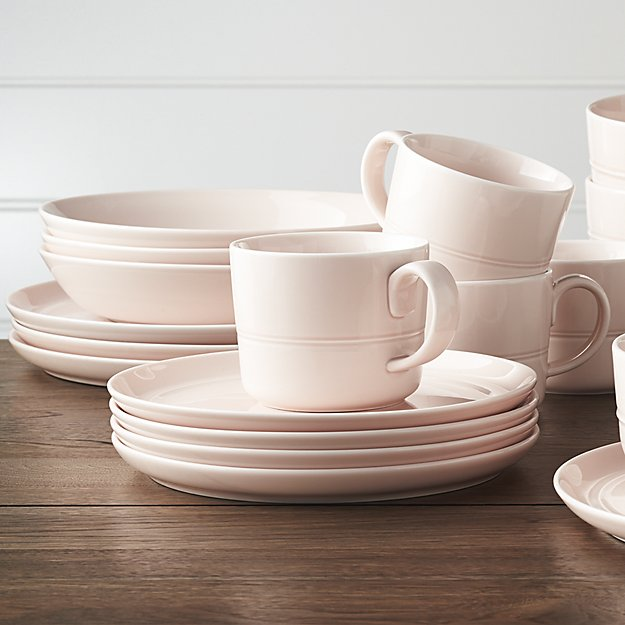 Hue Blush Dinnerware from  Crate and Barrel