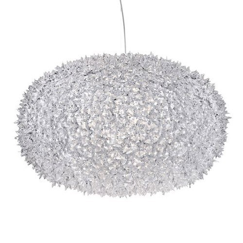 transparent crystal new bloom pendant light by kartell ylighting.jpg