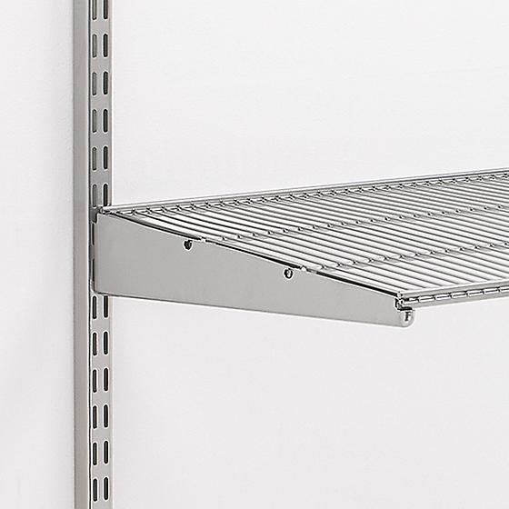 A ventilated shelf without a liner, via  thecontainerstore.com