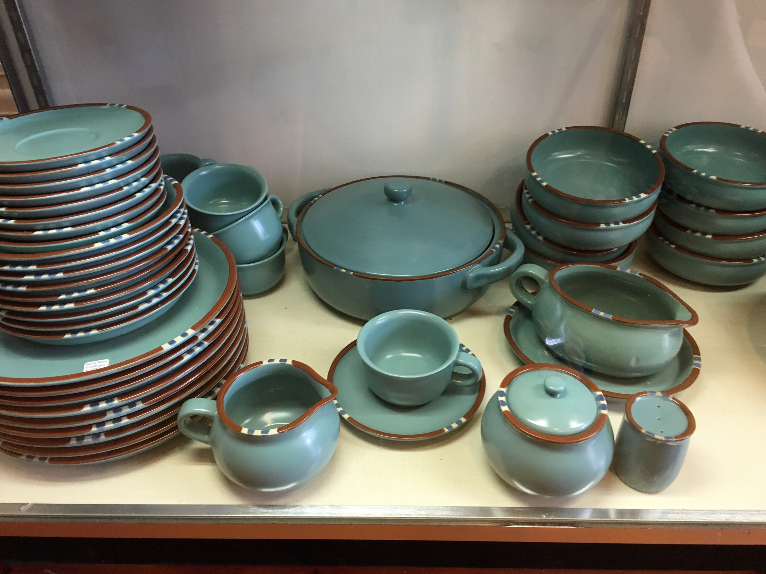 One find - Dansk Mesa dinnerware set in turquoise