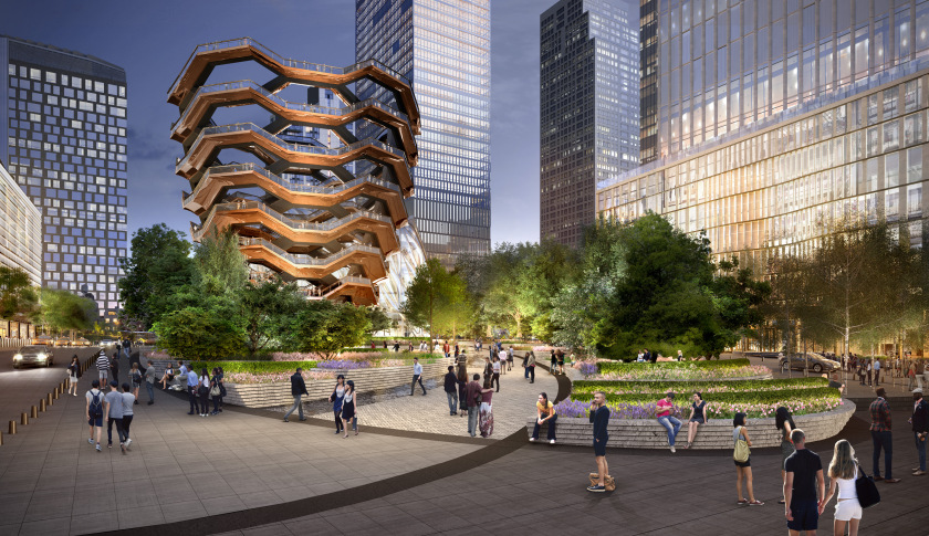 A rendering for a proposed public space of the new Hudson Yards, via  Fortune