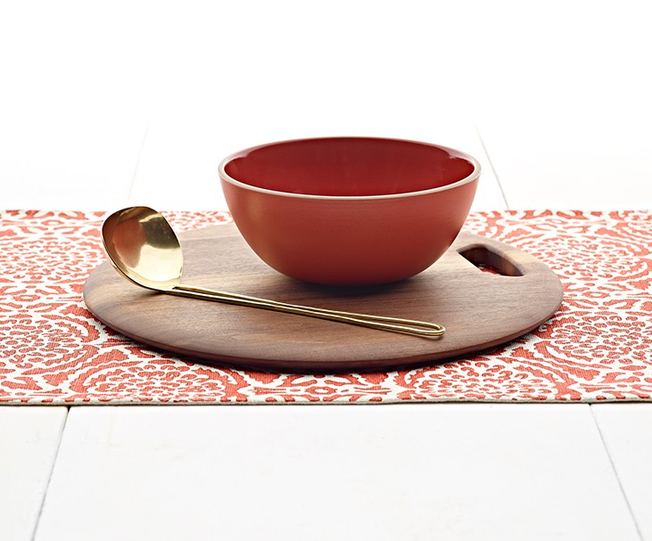 Red serving set from  Heath Ceramics
