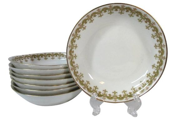 Geometric Limoges Plates, at  OKL