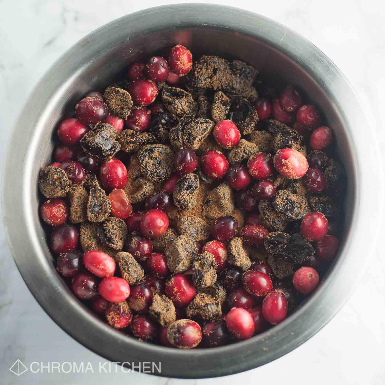 Cranberry-Sauce-Cherries-brown-sugar
