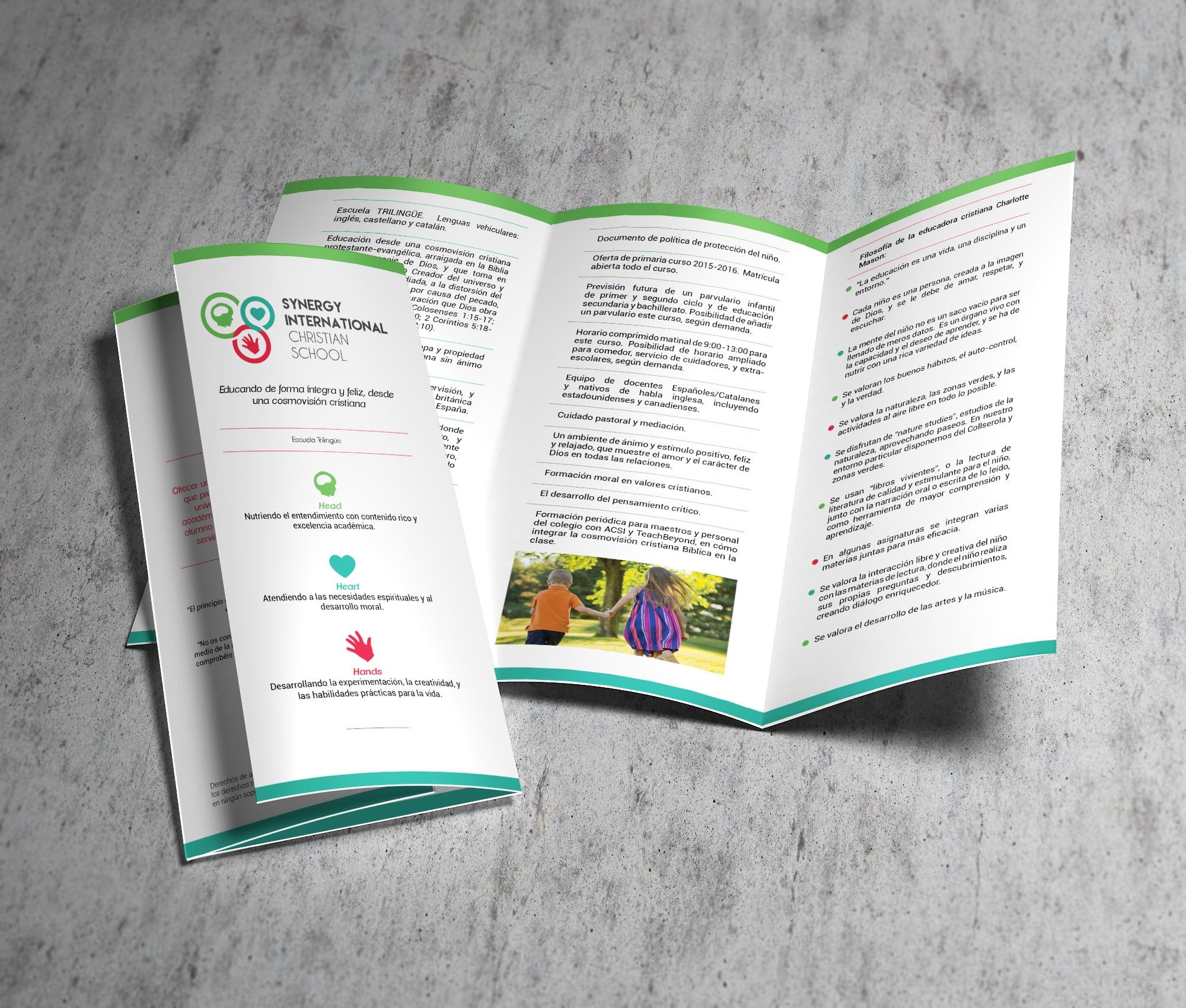 Brochure for Christian School