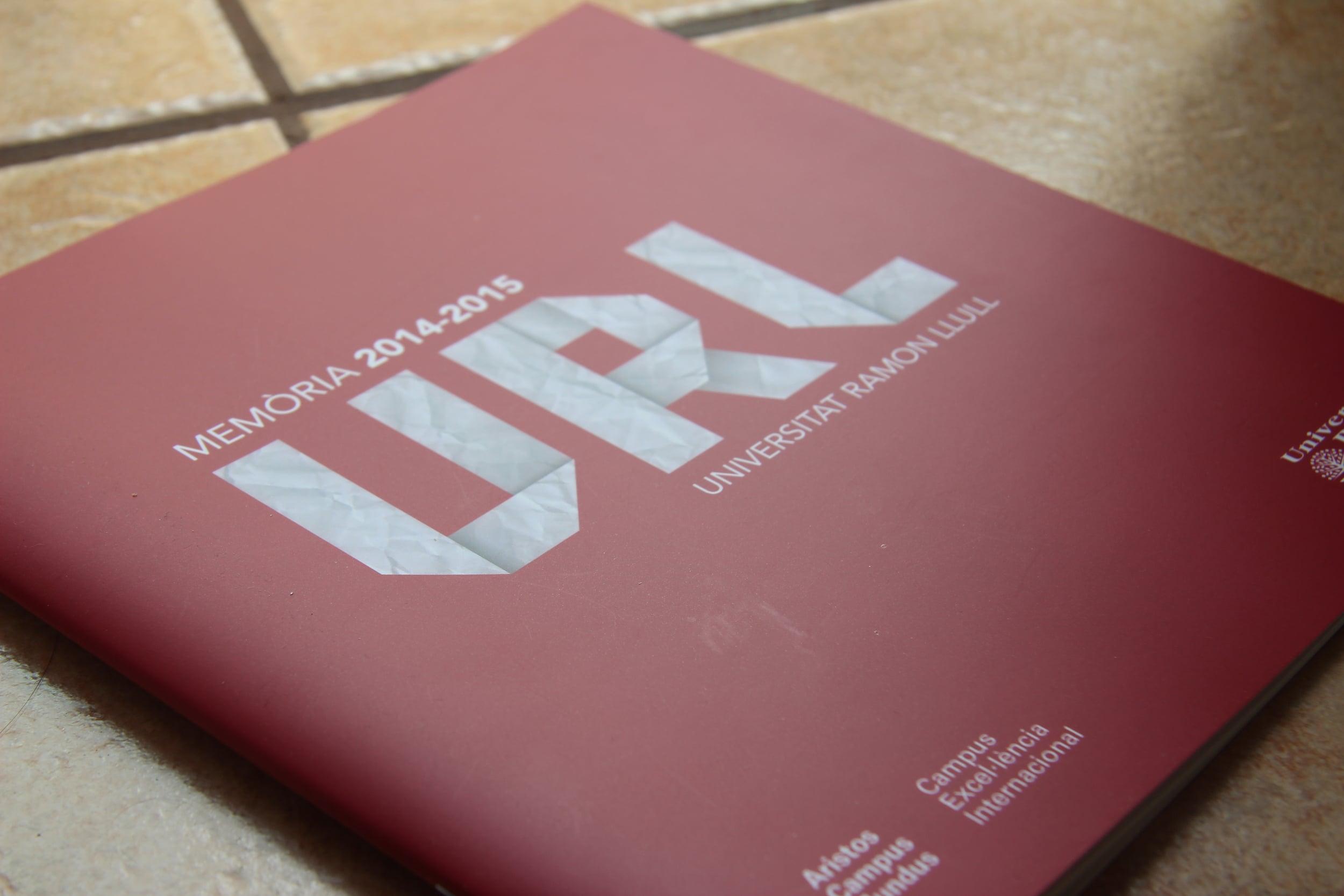 Cover Design for Ramon Lull University's annual report