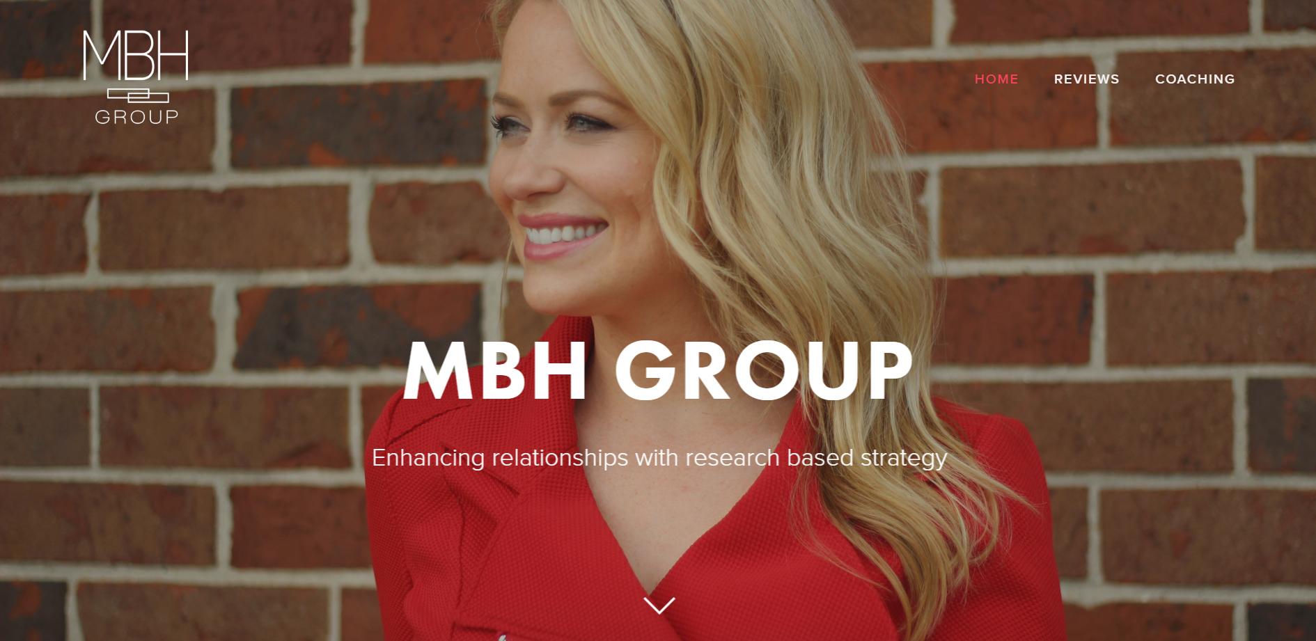 Logo, branding & site for MBH Group
