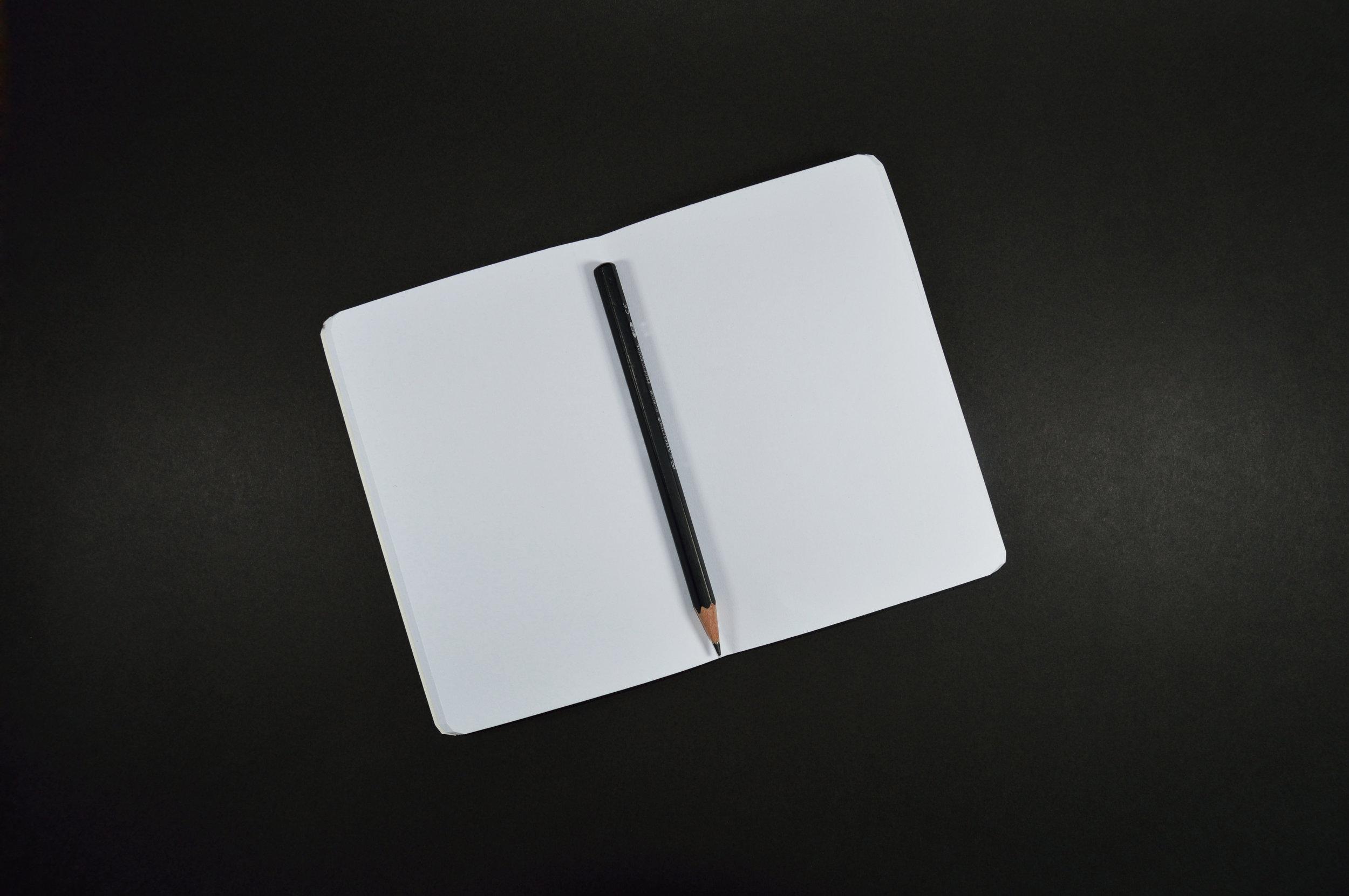 Blank sketchbook