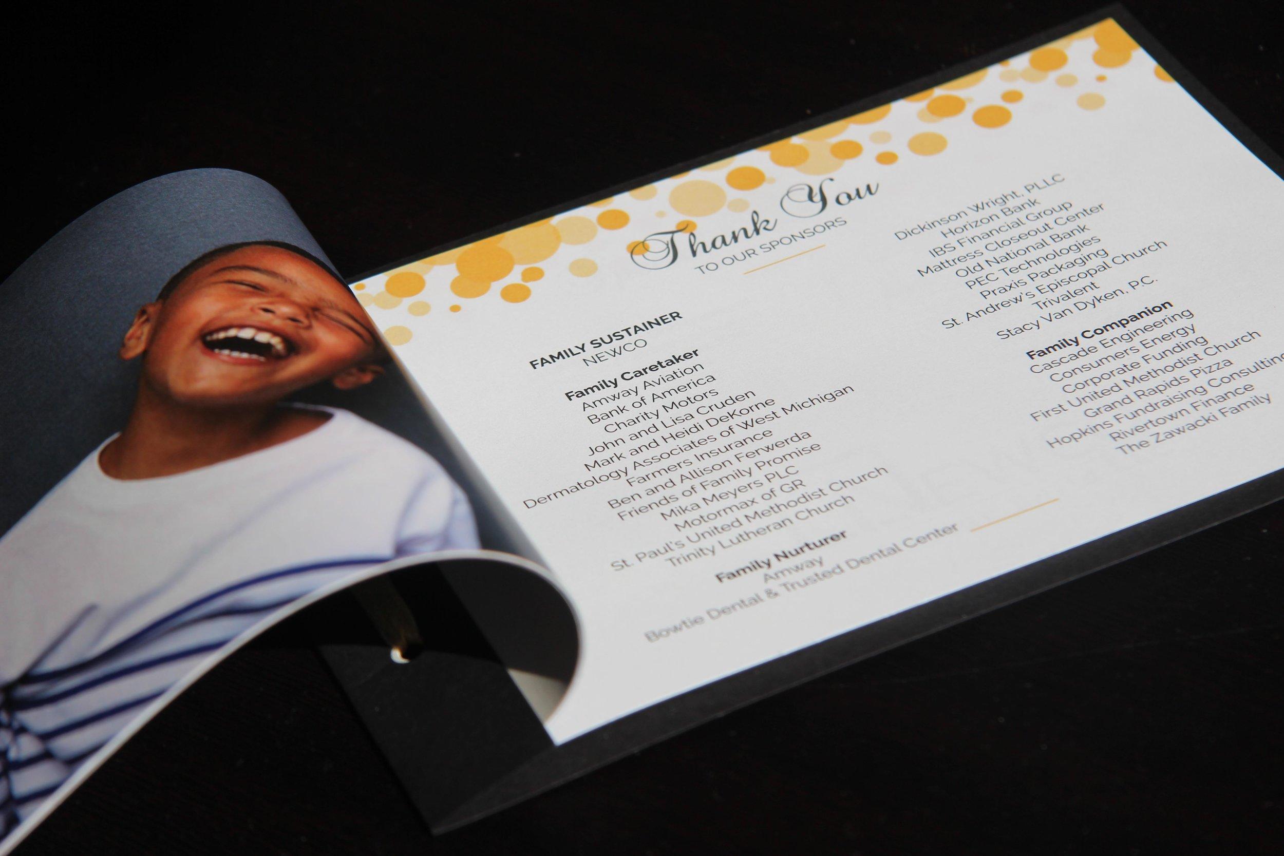 Gala Program Page Design