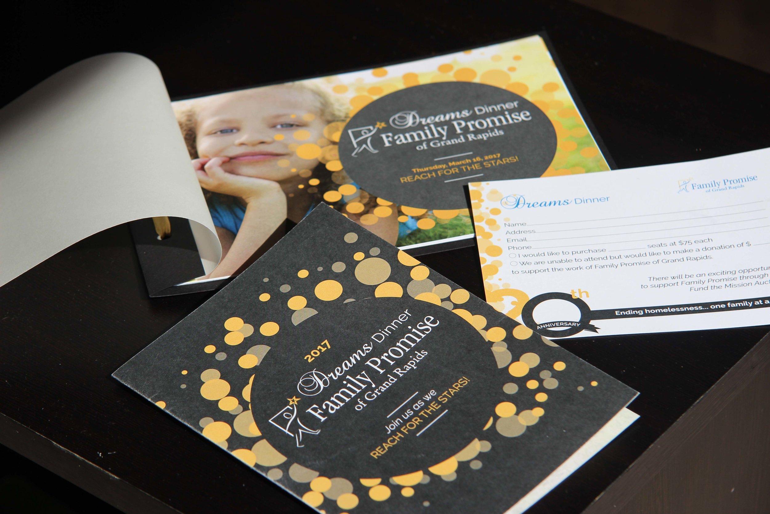 Gala Program, Inviteation & RSVP card design