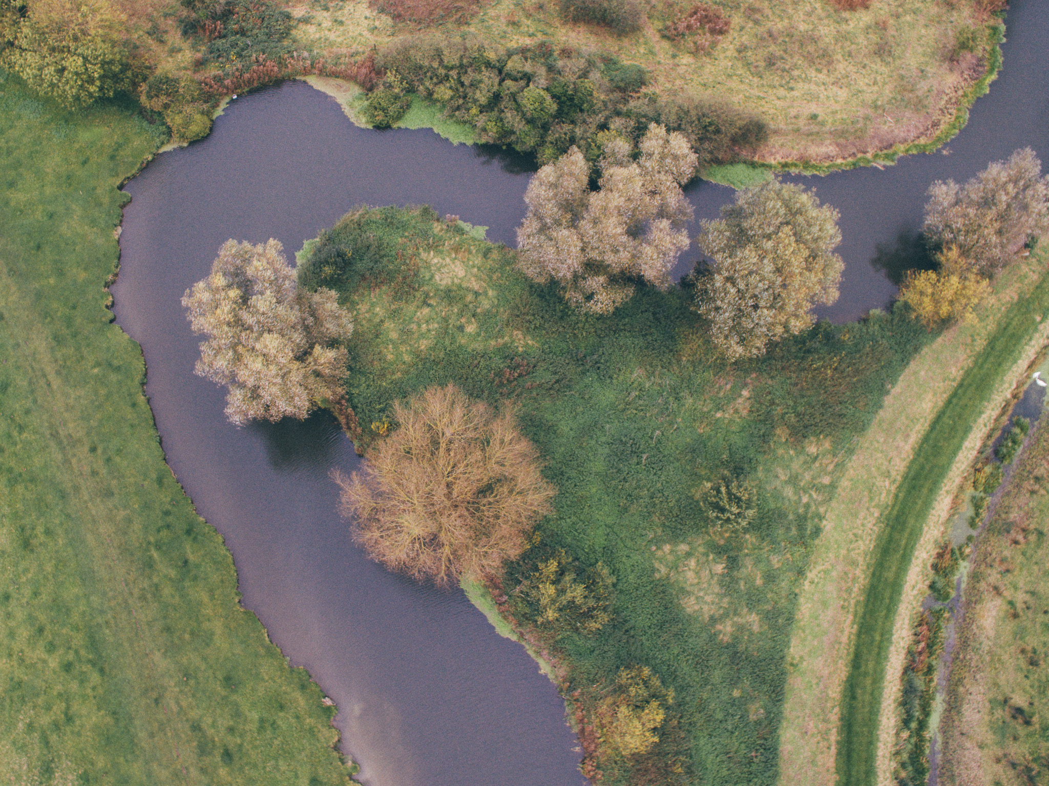 A drone shot from Grantchester Meadows
