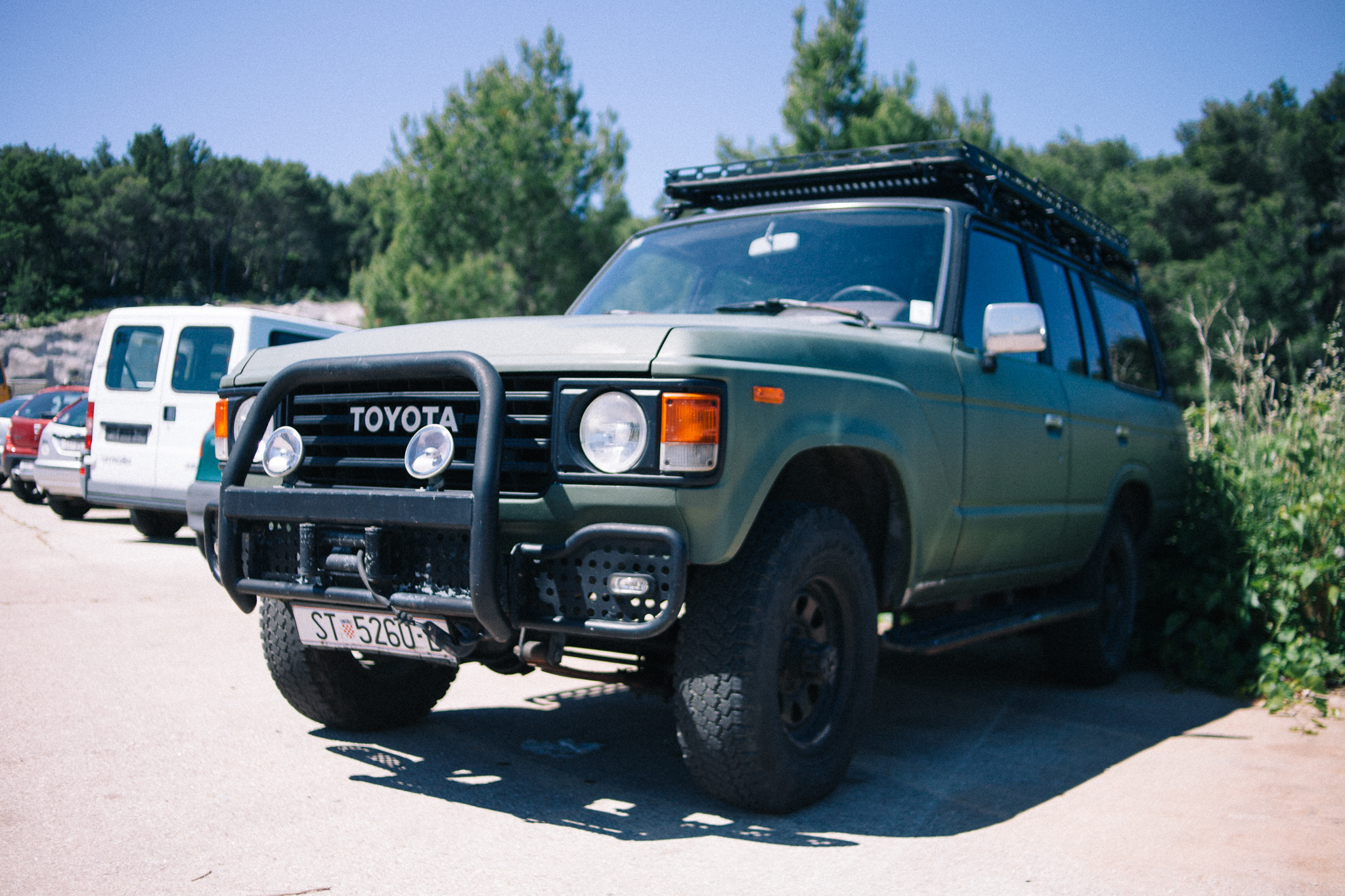 A Toyota Land Cruiser FJ60. I wish there were more classic Toyota 4x4s on the road in Europe!