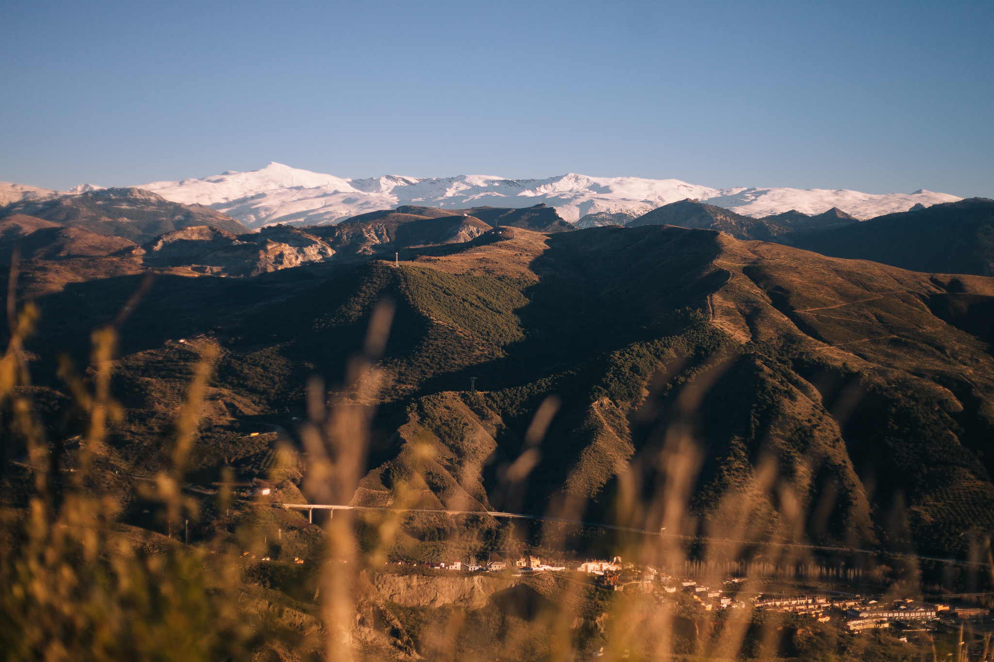 Aiming high: this is the Sierra Nevada, where the running race will be