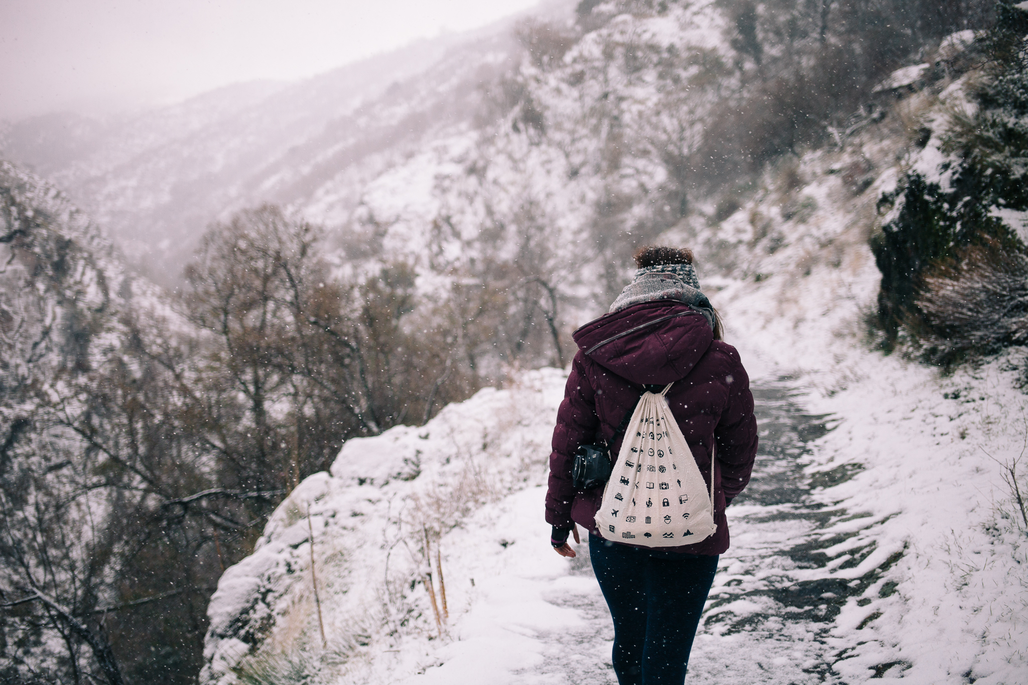 Hiking the Vereda de la Estrella in the winter with Aisling was quite a different experience!