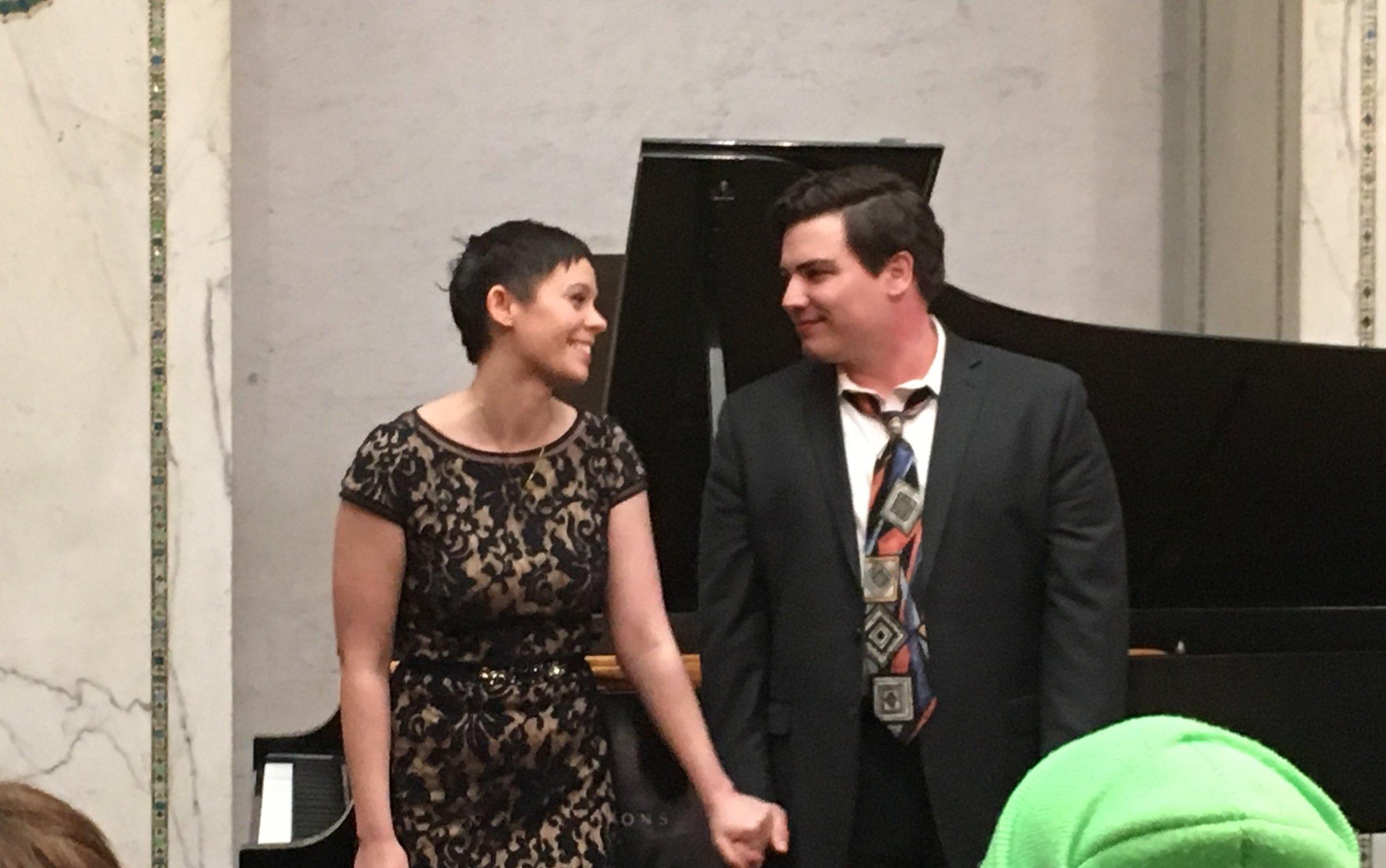 Madeline Slettedahl and Eric Ferring