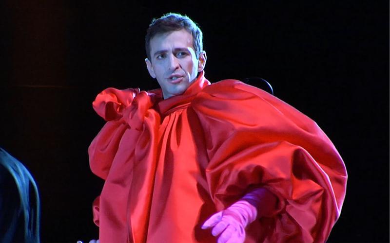 "Anthony Roth Costanzo in ""Glass Handel"" at Opera Philadelphia's O Festival 2018."