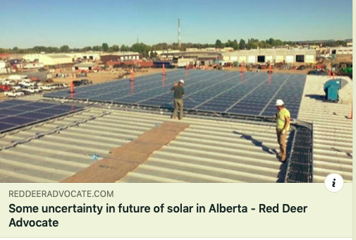 "The future of Alberta's energy-efficiency industry is up in the air.  That has created uncertainty, says Caleb Schmidt, the owner of Red Deer's Sunfind Solar Products Inc.  ""Everything is unknown right now,"" said Schmidt, adding he is waiting for more information from the new provincial government.  ""We don't know what's going to happen.""  He has about 20 projects in Alberta in a limbo at the moment. A third of those are in central Alberta.  The former NDP government introduced energy efficiency programs that provide rebates to residential and commercial properties under the Residential and Commercial Solar Program.  A report from Energy Efficiency Alberta in October confirmed central Albertans embraced energy efficiency initiatives.  Red Deer had one of the highest per capita participation rates in the Residential No-Charge Energy Savings program, with one out of every 10 homes (a total of 4,778 residences) taking advantage.  The city was one of the top communities for participation in home improvement and online incentives, with 285 participants adding insulation, replacing windows, opting for drain water heat recovery or installing a tankless hot water heater.  If Premier Jason Kenney decides to scrap the rebates, there may be a short-term drop in people's interest in the energy-efficiency programs, because Albertans look at both savings and the subsidies attached to the initiatives, Schmidt said.  ""The rebates will definitely make a difference, but there are other factors, such as low energy prices, which also hinders our market,"" he said, adding if the future is not favourable, it will impact his business.  ""There are very few people who switch for the environmental reasons alone.  ""The bottom line is there's a ton of uncertainty – all the changes and everything is a bit frustrating right now, but that's where we're at.""  Another central Alberta business owner said the energy-efficiency movement has already started, regardless of what Kenney decides to do.  The Sol Invictus Energy Services co-owner in central Alberta, Chelsah Thomas, said what the new government decides to do with these programs will not have an impact on those who want to be more energy efficient.  ""The grants provided exposure, accessibility and options to Albertans, and because of the exposure, lots of Albertans know about it and know it's an option for them, so I think the job has been done.""  She also noted the solar industry is ""still extremely low priced"" in Alberta, even without subsidies.  Both Thomas and Schmidt agreed if municipalities stepped up like Edmonton has done, it will be a motivator for people to become more energy efficient.    mamta.lulla@reddeeradvocate.com"