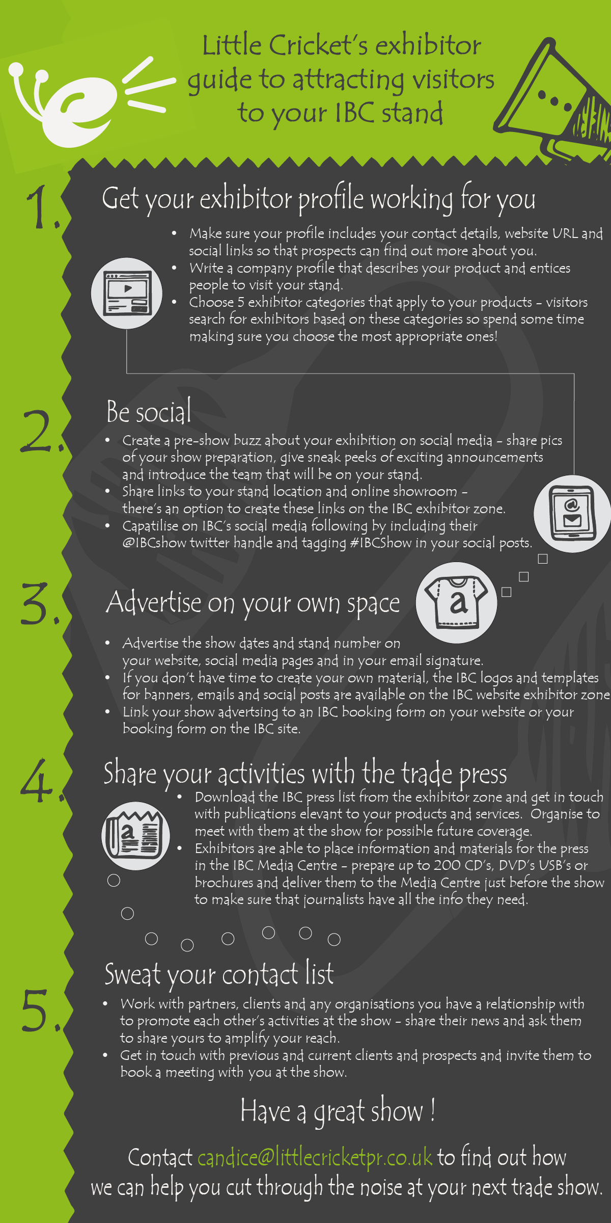 IBC trade show marketing tips infographic
