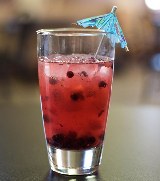 Our new featured drink is here! Come try our strawberry açaí refresher #refreshing #refresher #april #spring